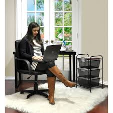 Mainstays Desk Chair Black by Mainstays Tufted Leather Mid Back Office Chair Multiple Colors