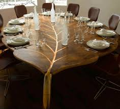 Rustic Country Dining Room Ideas by Dining Room Rustic Walnut Dining Set With Leaf Shaped Dining