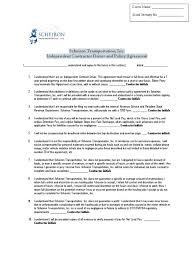 100 Independent Trucking Company Contractor Driver Agreement PDF Contractor