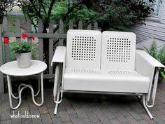 Veranda Metal Patio Loveseat Glider by Andros Wood 2 Seater Patio Bench With Table Safavieh Gliders