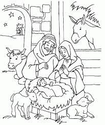 Christmas Coloring Pages Jesus Manger Unbelievable Printable