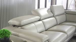 Chateau Dax Leather Sofa Macys by Embry 2 Piece Leather Power Reclining Sectional Youtube