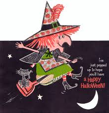 Vintage Halloween Collector Weeny Witch by And Everything Else Too Vintage Halloween Cards