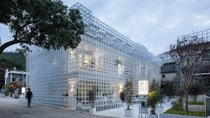 100 Ava Architects Latticed Framework Incorporates Seating Around The Edges Of