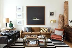 Apartment Coffee Table Masculine Living Room Design Ideas Adorable Beige Feather Carpet Rustic Brick