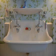 Two Faucet Trough Bathroom Sink by Bathrooms Design Farmhouse Kitchen Sink High Back Double Faucet