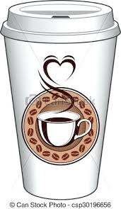 Coffee To Go Cup Design With Steaming Heart Clipart Free