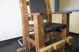 chaise lectrique plus de produits d injection le tennessee impose la chaise électrique