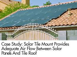 study solar tile mount provides adequate air flow between