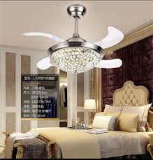 Invisible Crystal Chandelier Fan Light Dining Room