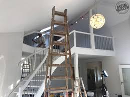 report malerarbeiten treppe weiß lackieren kamin in