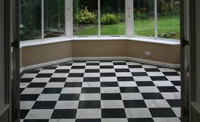 Black And White Honed Marble Floor