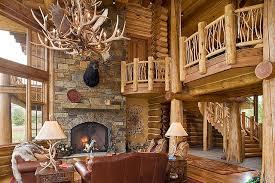 Tucker Ranch Custom Log Home Rustic Living Room