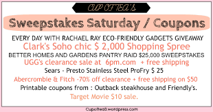 Sweepstakes Saturday / Coupons – Cup Of Tea Can I Eat Low Sodium At Outback Steakhouse Hacking Salt Gift Card Eertainment Ding Gifts Food Steakhouse Coupon Bloomin Ion Deals Gone Wild Kitchener C3 Coupons 1020 Off Coupons Free Appetizer Today Parts Com Code August 2018 1for1 Lunch Specials Coupon From Ellicott City Md On Mycustomcoupon Exceptional For You On The 8th Day Of