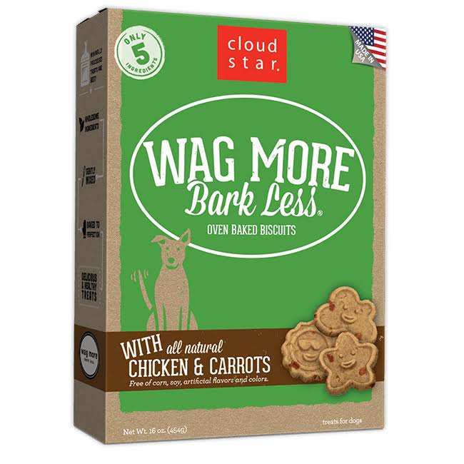 Wag More Bark Less Original Oven Baked Treats - Chicken & Carrots, 16oz