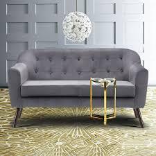 skandinavisch samt kleiner raum sofa sessel wohnzimmer polstersofa 2sitzer samtmöbel