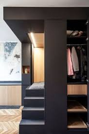 Genius Bedroom Layout Design by A Tiny Studio With A Genius Bedroom Solution Bed Placement