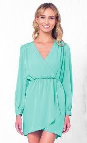 indie xo that u0027s a wrap mint green long sleeve cross wrap v neck