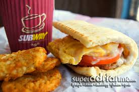 stores cuisine subway breakfast meals from s 3 90 at selected stores