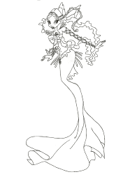 Colouring Sheet Mermaid Winx Coloring Pages To Print And Download For Free