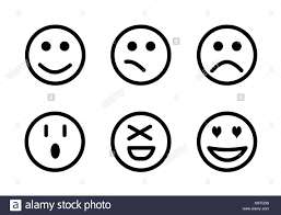 Set Of Emoji Smileys Isolated Faces Expression Illustration