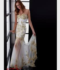 white and gold prom dresses with sleeves naf dresses