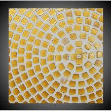 abstraktes acrylbild auf leinwand in weiß und gold