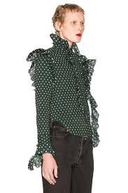 vetements polka dot blouse in green fwrd