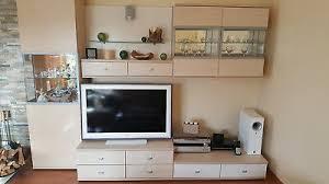 wohnwand anbauwand für wohnzimmer ahorn matt gebraucht