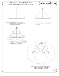 100 Arch D Rawing A 2Centered WKnown Height Width THISisCarpentry