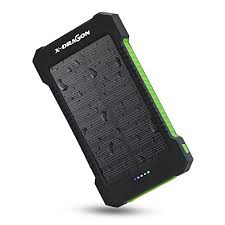 X DRAGON mAh Portable Solar Charger Power Bank for iPhone