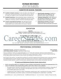 Sample Substitute Teacher Resume Elegant Stock Of Examples For
