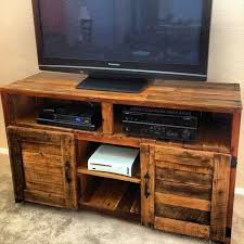 Recycled Pallet TV Stand Plans Rustic Tv Amusing