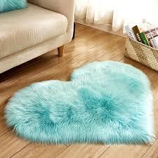 plüsch herz form flauschigen nachahmung wolle wohnzimmer schlafzimmer weichen dekoration matte decke teppiche non slip