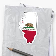 California Flag Illinois Outline By Artisticattitud