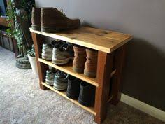 Shoe Rack Rustic Style Handmade With Reclaimed By TwoShortPlanks
