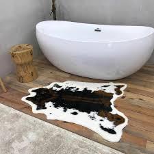 rindsleder tür fell teppich anti slip mat badezimmer nacht foyer zimmer teppich bank sessel pat matratze