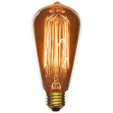 Sunlite 60S19 CF 60 Watt Antique Edison Style S19 Medium Base