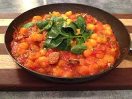 Pumpkin Gnocchi Recipe by Homemade Pumpkin Gnocchi With Tomato Sausage And Spinach Sauce