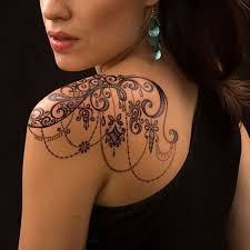 Lace Tattoo For Women On Shoulder