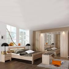 wiemann donna schlafzimmer bett drehtürenschrank mit parsol bronze spiegel türen nachtschränken ankleidebank front korpus eiche sägerau nachbildung