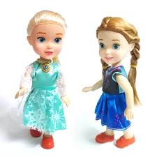 NEW 1pcs Mini Princess Elsa Anna Baby Dolls Kids Cartoon Toys For