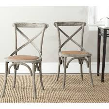 Recaning A Chair Back by This Set Of Two Safavieh Franklin X Back Chairs Is Crafted Of
