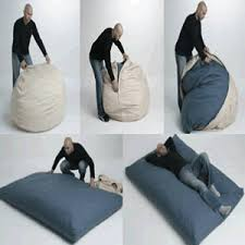 Giant Bean Bag Turns Into A Bed
