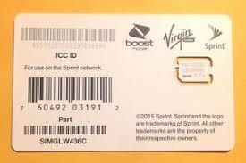 For Sprint Nano SIM Card Fits iPhone 5S 6 6 plus Boost Virgin
