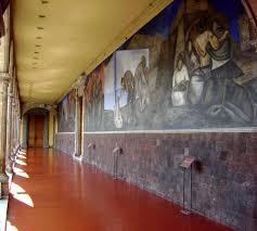 Jose Clemente Orozco Murales Palacio De Gobierno by El Antiguo Colegio De San Idelfonso Recinto Colonial Caminando