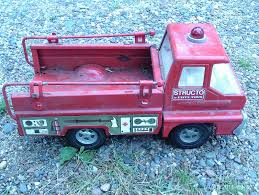 100 Structo Toy Truck VINTAGE 1966 ERTL S Pressed Steel Friction Turbine Fire
