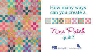 Wow 16 Nine Patch quilt block variations