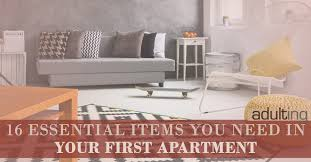Home 16 Essential Items You Need In Your First Apartment By Harlan L Landes Published October 5 2016 201 Am Updated 1 Year Ago Views