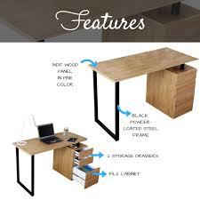 Techni Mobili Computer Desk With Side Cabinet by Computer Desk With Storage And File Cabinet Techni Mobili